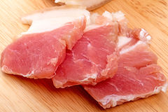 Zoute baconplakken Stock Foto's