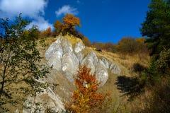 Zoute Berg in Praid, Harghita, Roemenië Stock Afbeelding