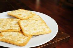 Zoute crackers Stock Fotografie