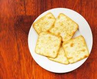 Zoute crackers Royalty-vrije Stock Afbeelding