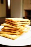 Zoute crackers Royalty-vrije Stock Foto's