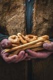 Zoute gebakken snack, het typische Italiaans Royalty-vrije Stock Afbeelding