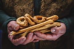 Zoute gebakken snack, het typische Italiaans Royalty-vrije Stock Foto