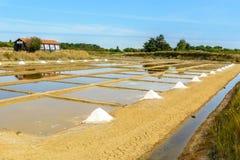 Zoute haven, Oleron, Frankrijk stock foto's