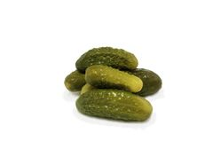 Zoute ingelegde komkommers Stock Foto