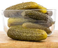 Zoute knapperige komkommers Royalty-vrije Stock Afbeelding