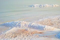 Zoute kust van het Dode Overzees Royalty-vrije Stock Foto's