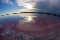 Zoute lagune, La-Pampa, stock foto