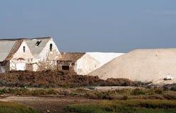 Zoute Landbouwbedrijven dichtbij Tavira Portugal royalty-vrije stock afbeelding