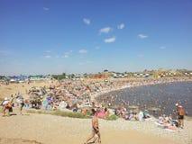 Zoute meren in sol-Iletsk Royalty-vrije Stock Foto