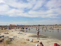 Zoute meren in sol-Iletsk2 Royalty-vrije Stock Afbeeldingen