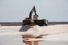 Zoute mijnen, productie - moerassen van Odiel. stock afbeeldingen