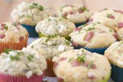 Zoute muffins Stock Afbeeldingen
