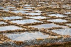 Zoute pannen Gozo royalty-vrije stock afbeelding