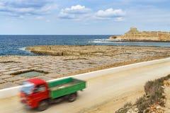 Zoute pannen in Gozo, Malta Royalty-vrije Stock Afbeeldingen