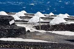 Zoute pannen van Fuencaliente, het eiland van La Palma Royalty-vrije Stock Foto