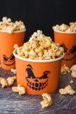 Zoute Popcorn voor Halloween Royalty-vrije Stock Afbeelding
