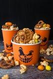 Zoute Popcorn voor Halloween Stock Afbeelding