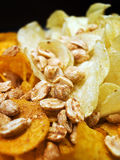 Zoute snacks Stock Foto