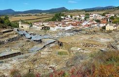 Zoute vallei van Anana, in Alava, Spanje royalty-vrije stock fotografie