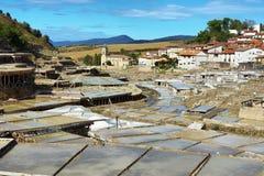 Zoute vallei van Anana, in Alava, Spanje royalty-vrije stock afbeelding