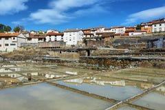 Zoute vallei van Anana, in Alava, Spanje stock afbeeldingen