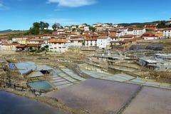 Zoute vallei van Anana, in Alava, Spanje royalty-vrije stock afbeeldingen