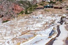 Zoute vijvers van Maras, Peru Royalty-vrije Stock Afbeelding