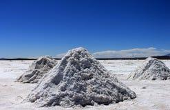 Zoute vlakten, Uyuni, Bolivië. Royalty-vrije Stock Fotografie