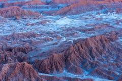 Zoute vormingen bij Valle DE La Luna, Atacama-Woestijn, Chili royalty-vrije stock afbeelding