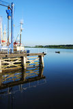 Zoutkamp harbour. Royalty Free Stock Photo
