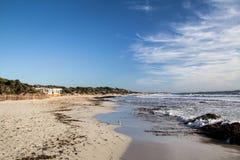Zoutmerenstrand Ibiza in de Lente Stock Afbeelding