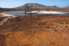 Zoutmijn Salinas Pedra DE Lume, Kaapverdië Royalty-vrije Stock Fotografie