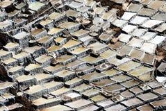 Zoutmijnen van Maras, Peru Royalty-vrije Stock Foto's