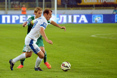 Zozulya Roman running with the ball Stock Image