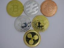 Zróżnicowani cryptocurrencies zdjęcia stock