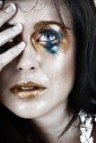 zrób smudged płakać w kobiety wzburzonej fotografia royalty free