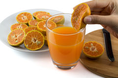 zrób sok pomarańczowy Obrazy Stock