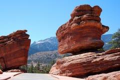 zrównoważona ogrodowa kamień boga Zdjęcia Stock