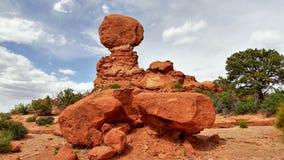 Zrównoważona skała - łuku park narodowy Obraz Royalty Free