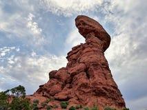 Zrównoważona skała - łuku park narodowy Obraz Stock
