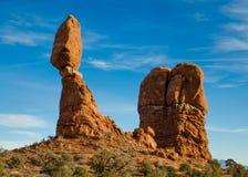 Zrównoważona skała, łuku park narodowy Zdjęcia Royalty Free