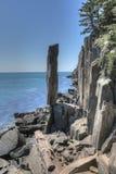 Zrównoważona skała blisko Digby szyi, nowa Scotia obraz royalty free