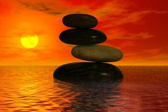 zrównoważone skał Zdjęcie Stock