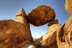 Zrównoważony Rockowy Duży chyłu park narodowy fotografia stock