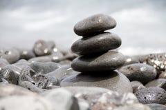 zrównoważony stos dryluje zen Zdjęcia Royalty Free