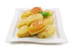 Zrazy aisló contra el fondo blanco Cocina ucraniana, lituana, polaca y bielorrusa nacional Foto de archivo