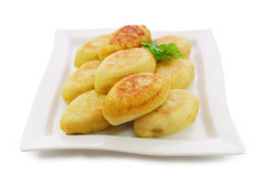 Zrazy  Isolated against White Background. National Ukrainian, Lithuanian, Polish and Belarusian cuisine Stock Photo