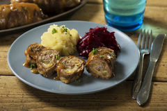 Zrazy polish beef roulades Royalty Free Stock Photography