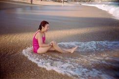 zrelaksować na plaży Obraz Stock